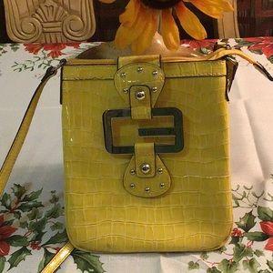 Yellow Guess Crossbody Bag